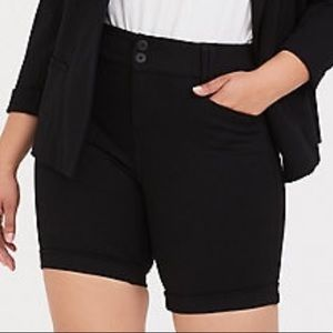 torrid Shorts - Torrid cuffed ponte bermuda shorts